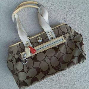 COACH Signature CC Bag Tote Handbag